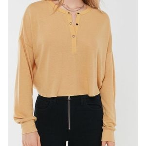 Urban Outfitters Yellow henley top
